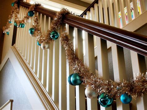 stair railing christmas ideas 3 easy ways to decorate the stair banister