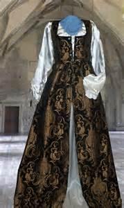 Brocade Cape Longdress renaissance brocade dress gorgeous high quality