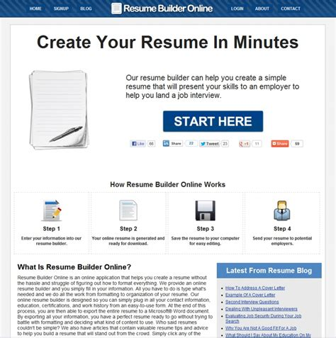 Creative Online Resumes by Creative Online Resume Builder Resume Ideas