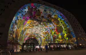 nice Interior Design For Hall Pictures #6: New-Food-Market-Hall-in-Rotterdam-the-Netherlands-Markthal-Rotterdam-cool-design-interior-new-city-icon-at-night.jpg