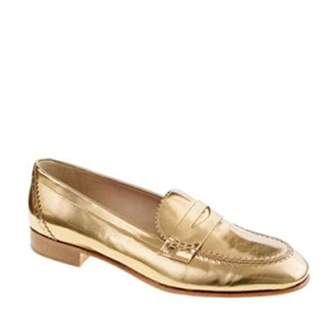 j crew silver loafers makeda muses gold loafers