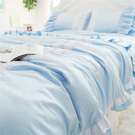 blue ruffle bedding blue ruffle bedding 28 images romantic season blue