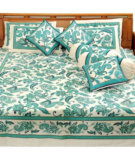 gold bed sheets heritage blue paisley cotton double bed sheet with 2