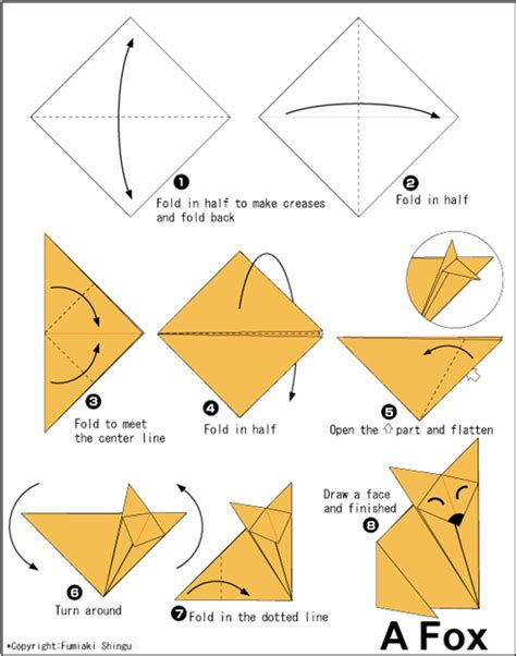 Origami Animals Diagrams - origami animal
