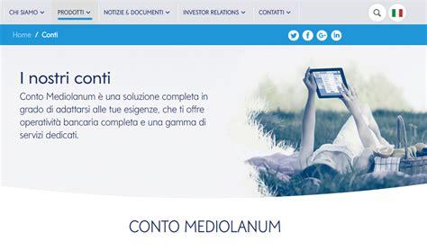 Mediolanum Opinioni by Conto Mediolanum Opinioni E Caratteristiche Dei Conti A