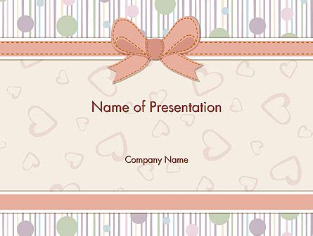 Baby Shower Invitation Powerpoint Template Backgrounds 14302 Poweredtemplate Com Baby Shower Powerpoint Templates