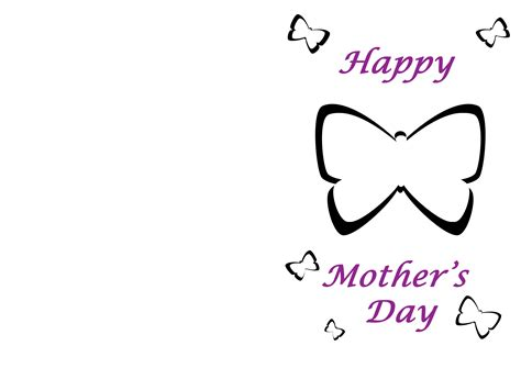 Template For S Day Card by Microsoft Templates Mothers Day Cards Clipart Best