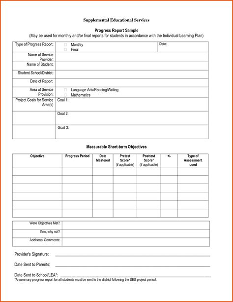 iep report sle progress report sle 771590 png sle progress report
