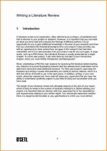 Writing A Literature Review For A Thesis 8 Example Of Literature Review For Project Expense