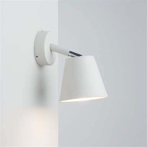 nordlux ip s6 bathroom wall light with shade white