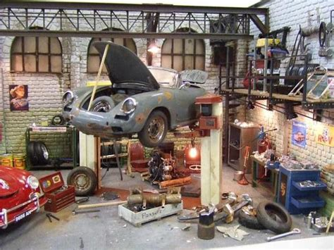 Garages Looking For Apprentices by Porsche Automotive Dioramas