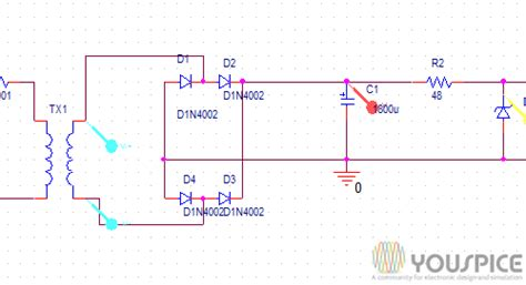 shunt type zener diode voltage regulator shunt voltage regulator with diode zener youspice
