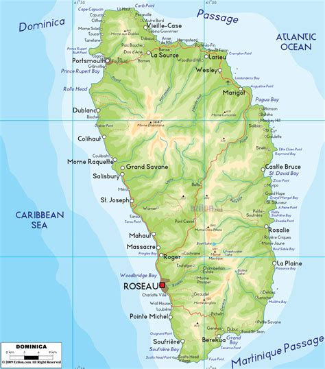 dominica on a map impressum