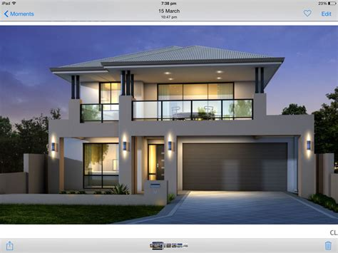 Glass Front House Plans by Two Storey House Facade Grey And Black Balcony