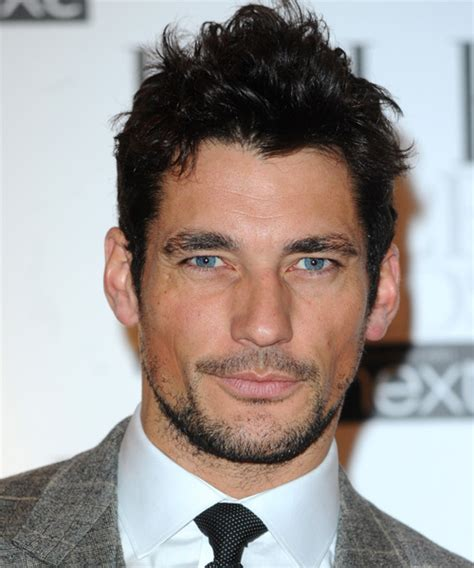 spanish mens hair style david gandy short straight casual hairstyle black