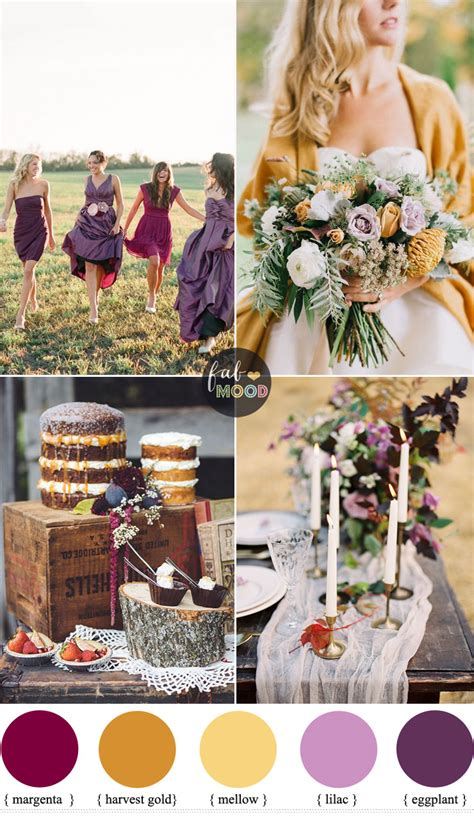 Fab Fall Shades by Autumn Colours Wedding Theme Different Shades Of Purple