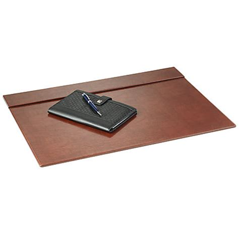 office depot desk mat realspace brown leatherette desk pad by office depot