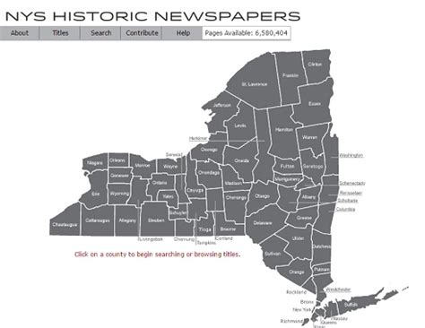 New York State Search New York State Historic Newspapers 171 Genealogy Search Tip