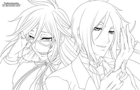 black butler anime manga to color pinterest black