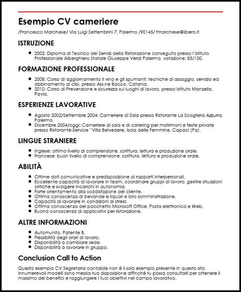 istituti professionali pavia esempio cv cameriere curriculum vitae builder