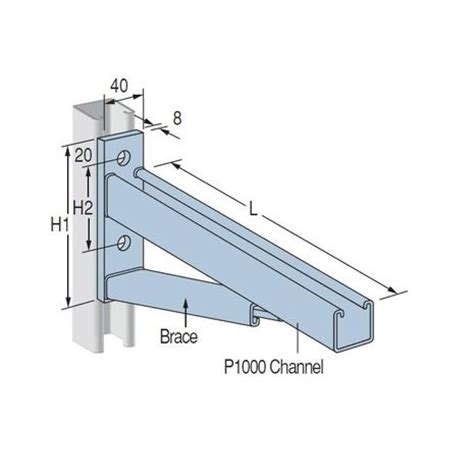 Enigma Electric Dropbolt Glass Fitting Bracket Only cantilever bracket pcl600 dipped galvanised 780mm