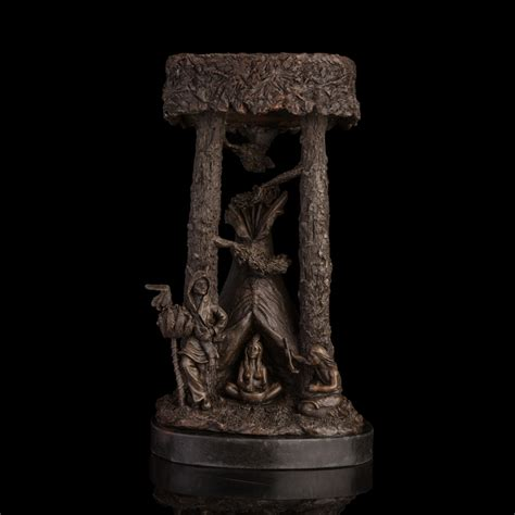 classical bronze statues primitive tribal