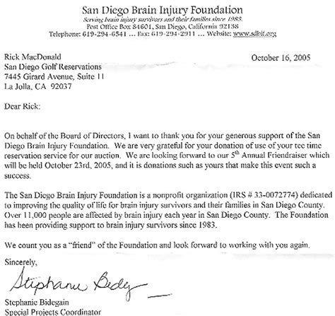 thank you letter charity golf tournament san diego golf san diego golf charity golf tournaments