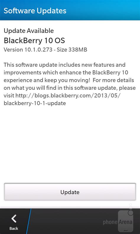 Bb Update by Blackberry 10 1 Software Update Goes Live