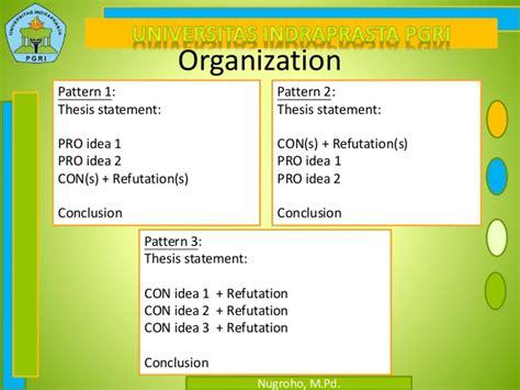 pattern of organization argument 9th argumentative essay