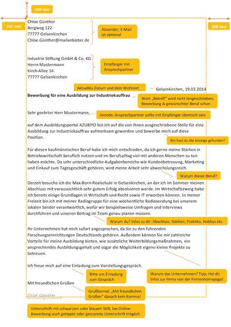 Anschreiben Bewerbung Muster Industriekaufmann Industriekauffrau Bewerbung Lebenslauf