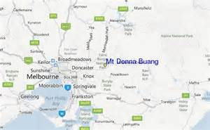 where is donna on the map mt donna buang ski resort guide location map mt donna