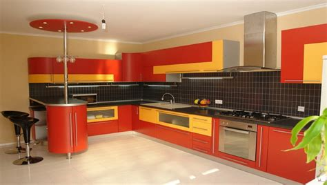 bright orange kitchen accessories feed kitchens 10 juicy and colorful kitchens decor advisor