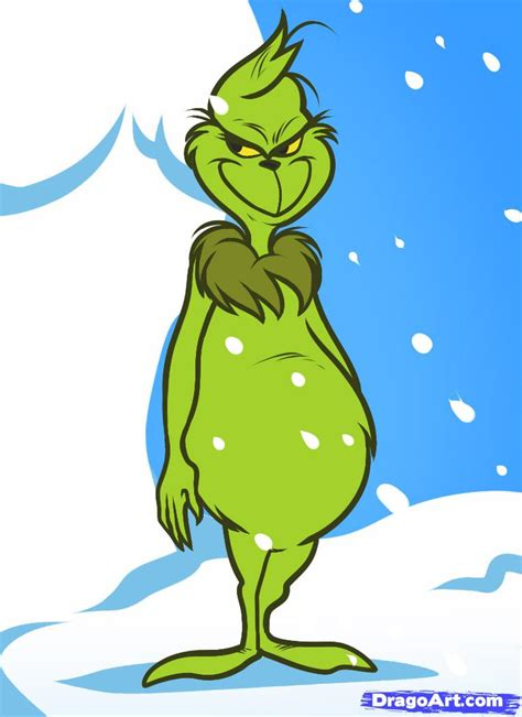 how to draw the grinch the grinch step by step