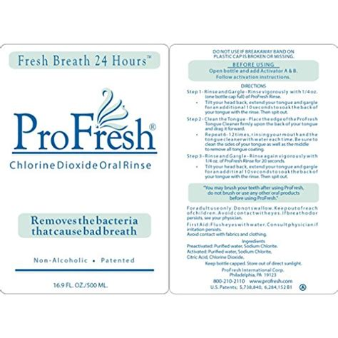 Mouthwash 500ml 16 9oz profresh rinse 2 month maintenance kit 4 bottle