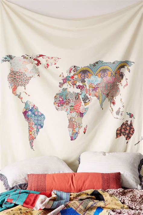 map tapestry patchwork world map tapestry seattle s travel shop