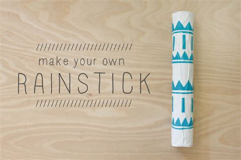How To Make A Rainstick With A Paper Towel Roll - make your own rainstick think crafts by createforless