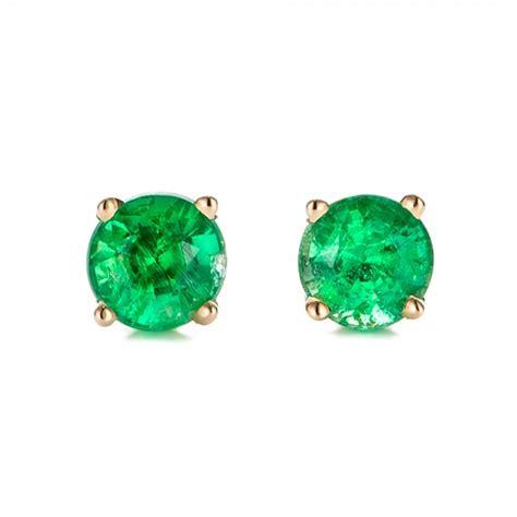 emerald stud earrings 100952 bellevue seattle joseph jewelry