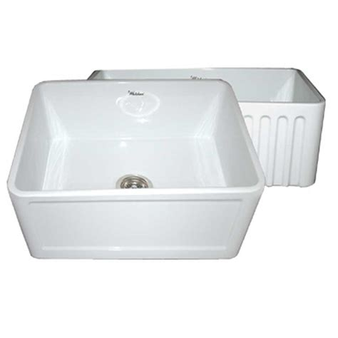 24 Kitchen Sink Whitehaus Collection Reversible Concave Farmhaus Apron Front Fireclay 24 In Single Basin
