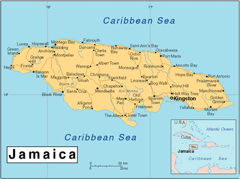 map world jamaica maps of jamaica