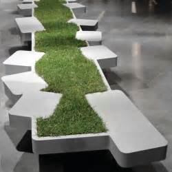 Buy A Bench In Central Park Urban Seating Unit Adorned By Miniature Grass Island