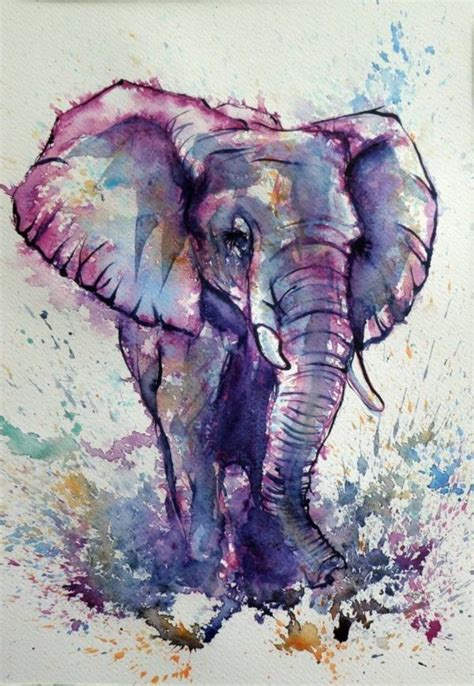 watercolor elephant tutorial 80 easy watercolor painting ideas for beginners easy