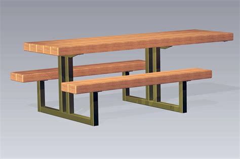 steel picnic table timberform site furnishings