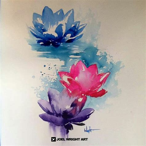 watercolor flower tattoo designs 49 watercolor lotus tattoos ideas