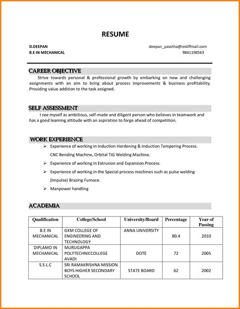 career objective exles for resume career objective on resume template learnhowtoloseweight net