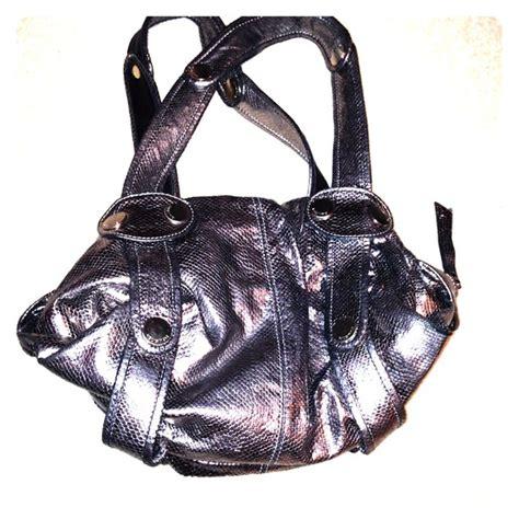 Gustto Cala Snakeskin Print Satchel 83 gustto handbags gustto silver snake skin print