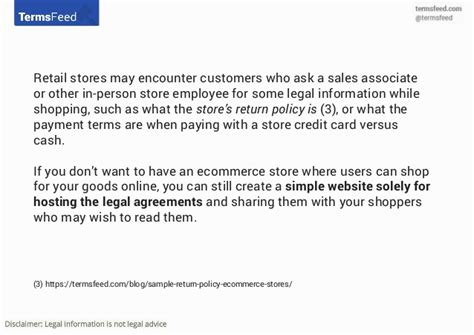 retail return policy template agreements and policies for retail stores
