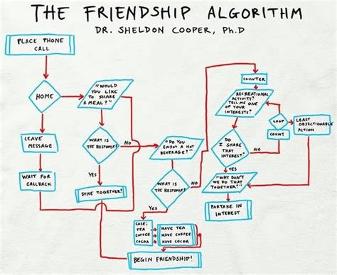 friendship algorithm flowchart official t shirt big theory sheldon friendship