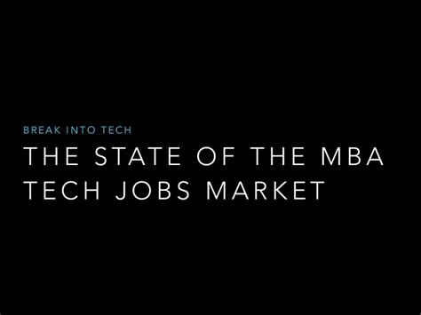 Mba Tech Linkedin by The State Of The Mba Tech Market 2017