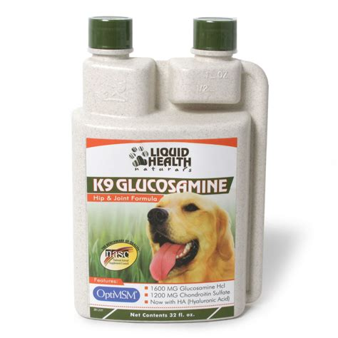 liquid glucosamine for dogs liquid health k9 glucosamine