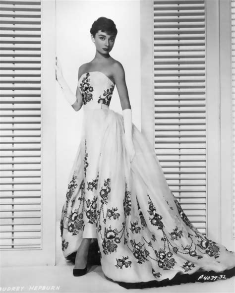 audrey hepburn gown commemorating the era of givenchy and his iconic looks